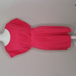 Eliza J Belted Sheath Pleated Dress